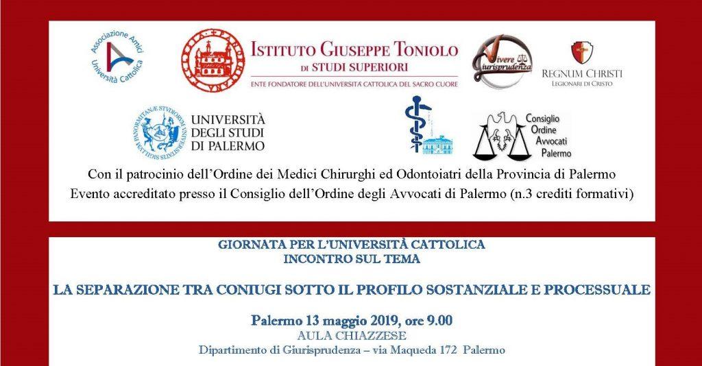 aeece71010d51 Università degli Studi di Palermo  un seminario sullo status dei coniugi  separati